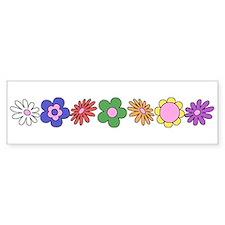 LDS YW Flowers Bumper Bumper Sticker
