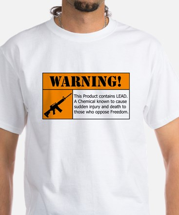 AR-15 Lead Warning T-Shirt