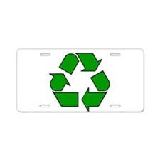 Reuse, recycle, Reduce Aluminum License Plate