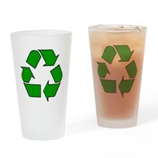 Reuse, recycle, Reduce Drinking Glass