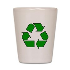 Reuse, recycle, Reduce Shot Glass