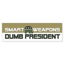 DUMB PRESIDENT Bumper Bumper Sticker