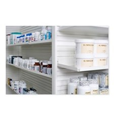 Shelves with medications  Postcards (Package of 8)
