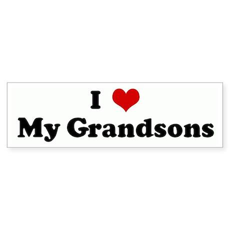 I Love My Grandsons Bumper Sticker