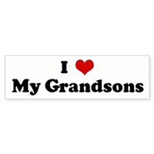 I Love My Grandsons Bumper Bumper Sticker