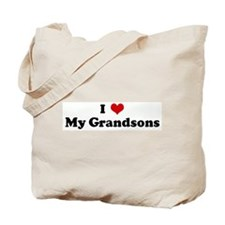 I Love My Grandsons Tote Bag