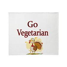 Go Vegetarian Throw Blanket