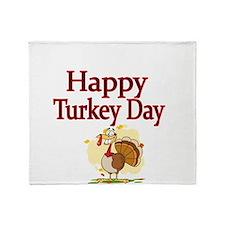 HappyTurkey Day Throw Blanket