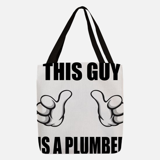 This Guy Is A Plumber Polyester Tote Bag