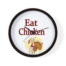 Eat Chicken Wall Clock