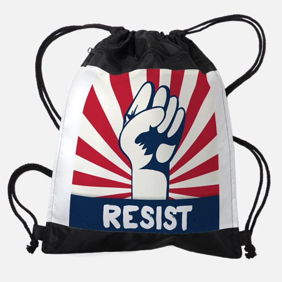 RESIST Fist Drawstring Bag