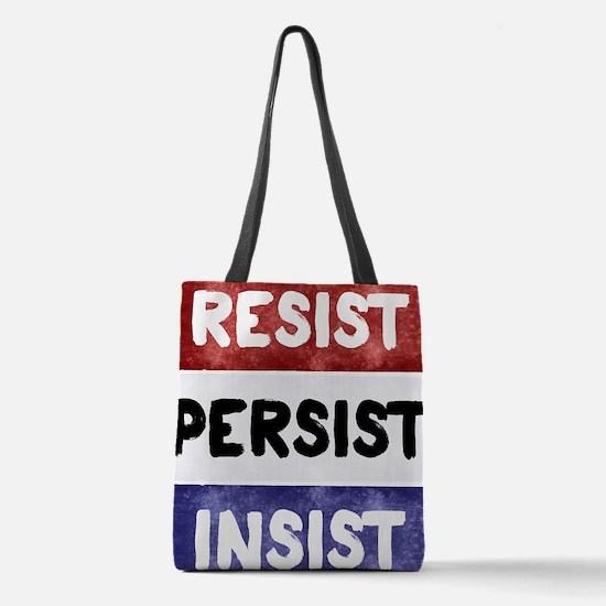 RESIST PERSIST INSIST Polyester Tote Bag