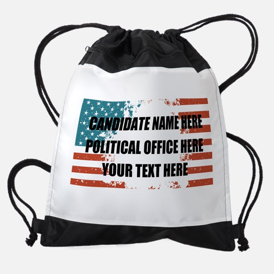 Personalized USA President Drawstring Bag