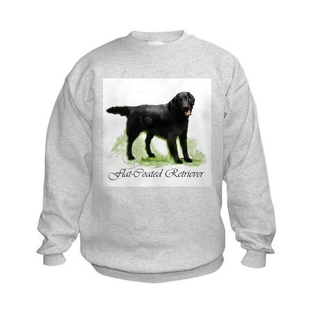 Flat Coated Retriever Kids Sweatshirt