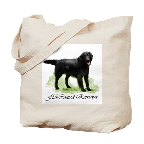 Flat Coated Retriever Tote Bag