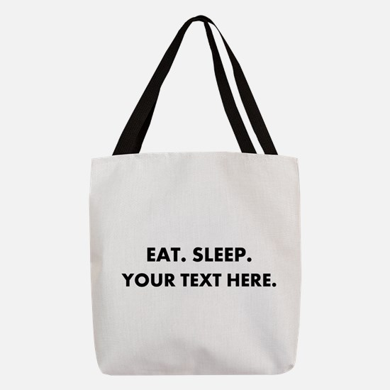 Personalized Eat Sleep Polyester Tote Bag