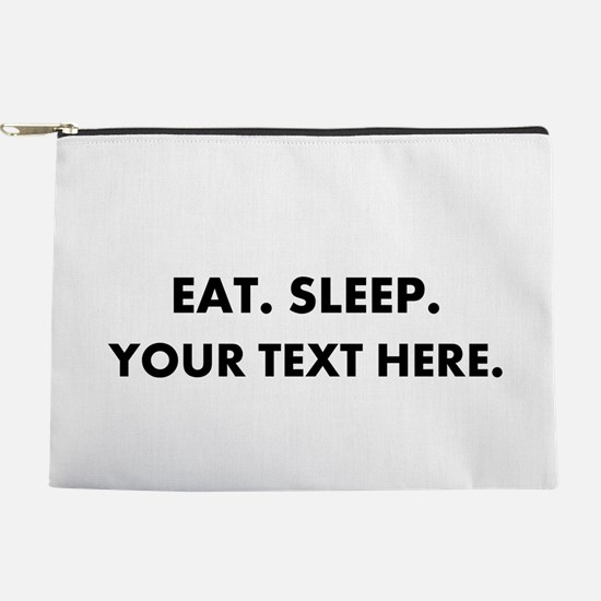 Personalized Eat Sleep Makeup Pouch