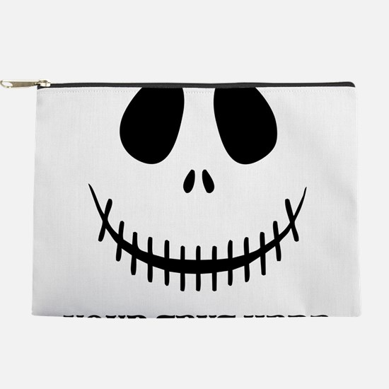 Custom Halloween Skeleton Makeup Pouch