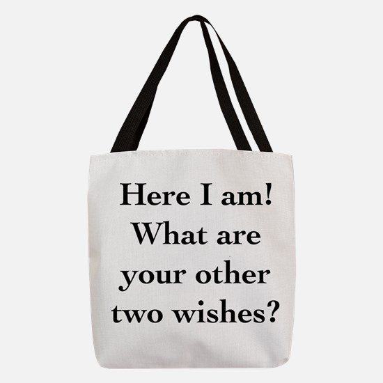 Here I Am Polyester Tote Bag