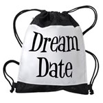 FIN-dream date.png Drawstring Bag