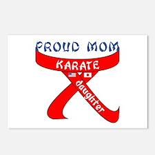 Proud Mom Karate Daughter Postcards (Package of 8)
