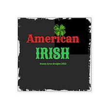 "American Irish Square Sticker 3"" x 3"""