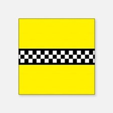 "Iconic NYC Yellow Cab Square Sticker 3"" x 3"""