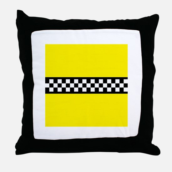 Iconic NYC Yellow Cab Throw Pillow