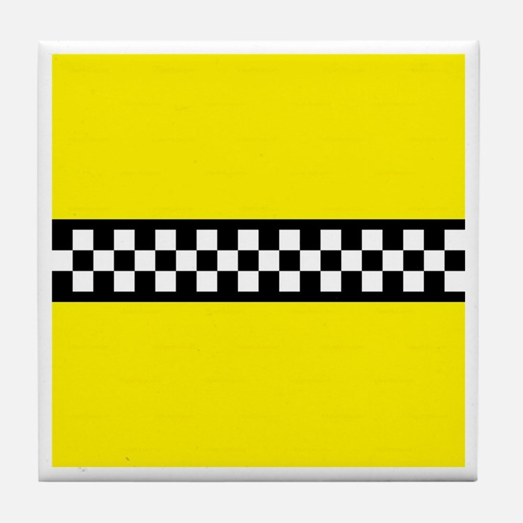 Iconic NYC Yellow Cab Tile Coaster