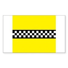 Iconic NYC Yellow Cab Decal