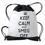 FIN-keep-calm-smeg-off.png Drawstring Bag