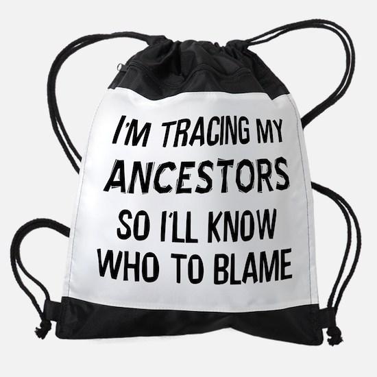 Funny Genealogy Drawstring Bag