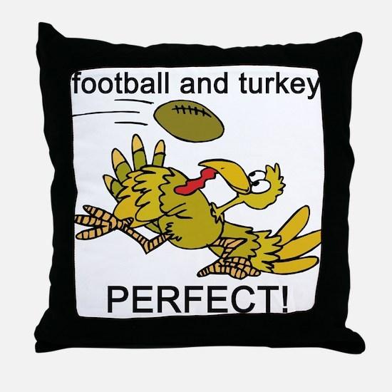 FOOTBALL TURKEY Throw Pillow