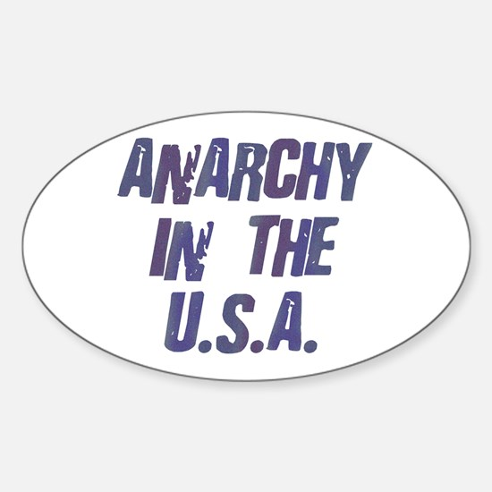 Anarchy in the USA Oval Decal