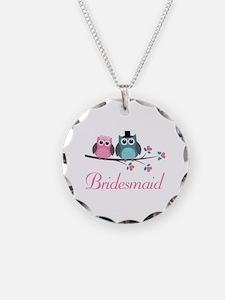 Bridesmaid Wedding Owls Necklace
