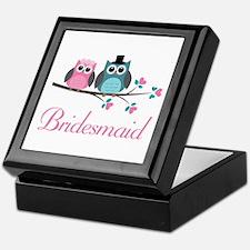 Bridesmaid Wedding Owls Keepsake Box