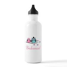 Bridesmaid Wedding Owls Water Bottle