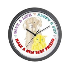 Pet Friend Wall Clock