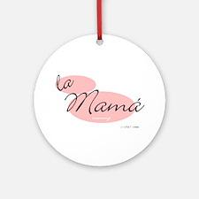 Mommy (Mamá) Ornament (Round)