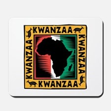 Kwanzaa Africa Map Design Mousepad