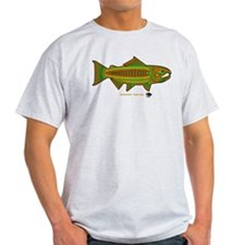 Retro Salmon. T-Shirt