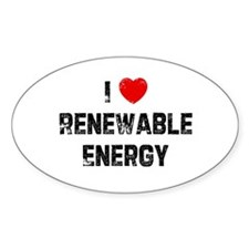 I * Renewable Energy Oval Decal