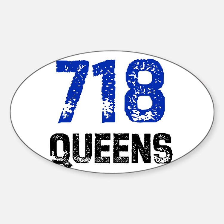 718 Oval Decal