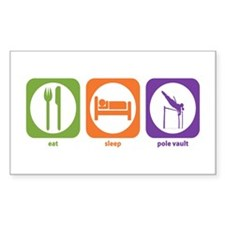 Eat Sleep Pole Vault Rectangle Decal