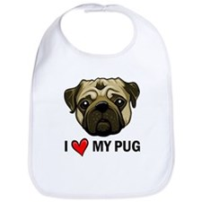 I Heart My Pug Bib