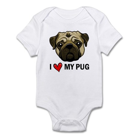 I Heart My Pug Infant Bodysuit