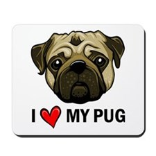 I Heart My Pug Mousepad
