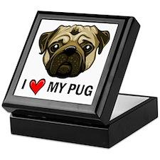 I Heart My Pug Keepsake Box
