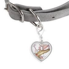 The pancreas Small Heart Pet Tag