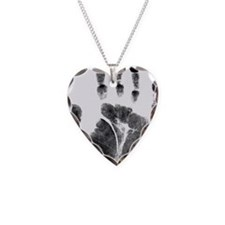 Black handprint Necklace